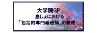 大学院GP 島しょにおける「包括的専門看護師」の養成